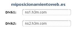 DNS miposicionamientoweb.es