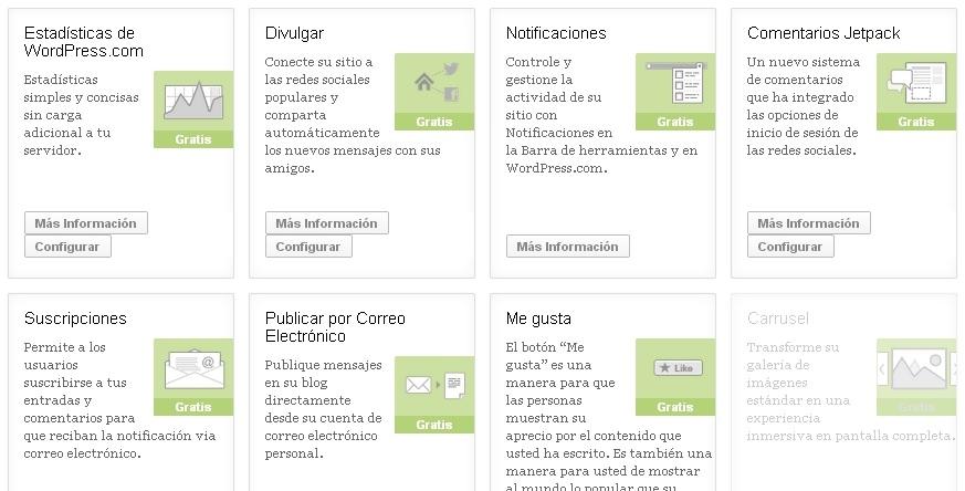 Configuración Jetpack WordPress