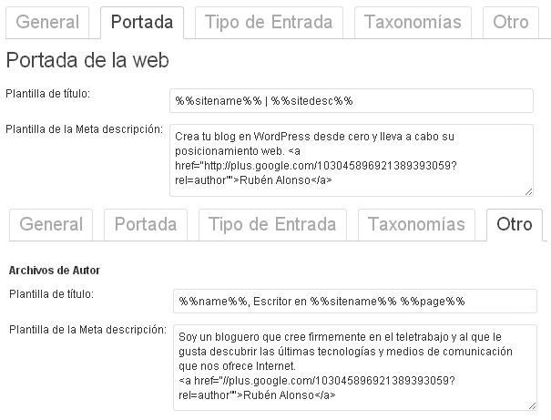 Yoast WordPress SEO Plantilla