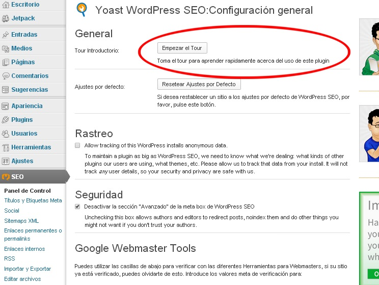 Yoast WordPress SEO Tour