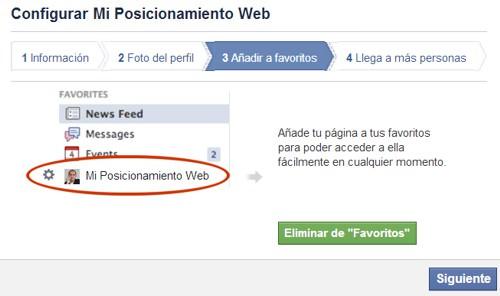 Configurar página de Facebook paso 3