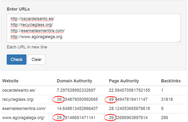Comprobar autoridad de dominios