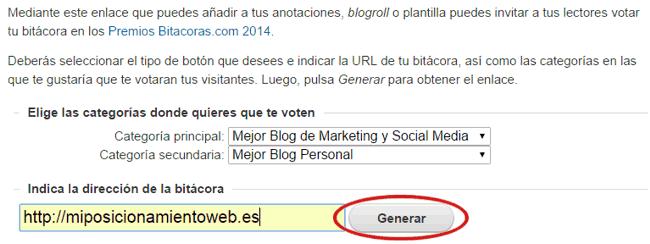 Cómo generar enlace de votos