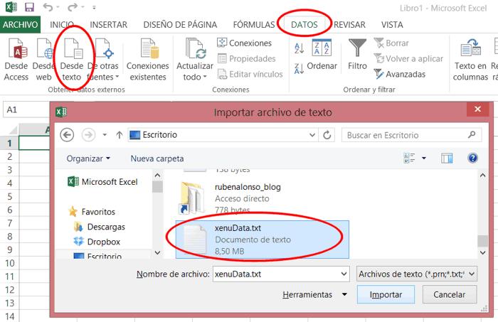 Importar datos Xenu en Excel