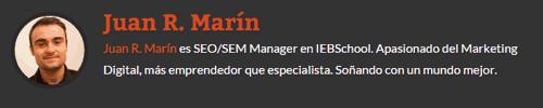 Info de autor invitado Juan R. Marín