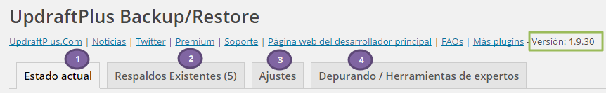 Copia seguridad blog wordpress