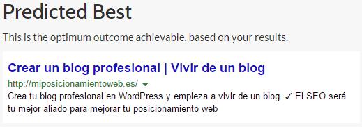 La mejor opción del test en Predikkta