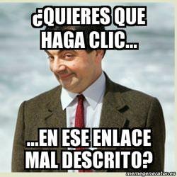 Mr Bean dice...