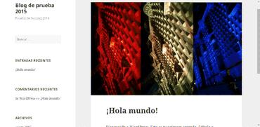Blog de prueba en Webempresa