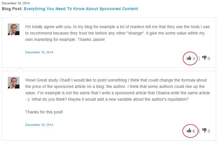 Comentarios que aportan valor