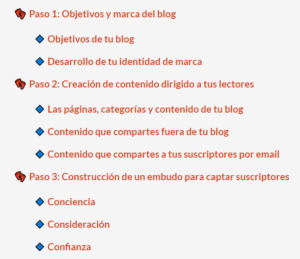 Definir la estrategia del blog en 3 pasos