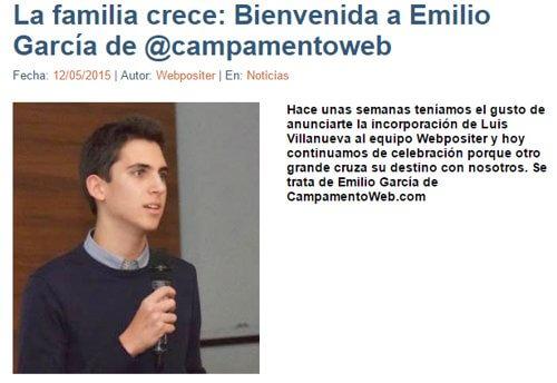 Emilio García en Webpositer
