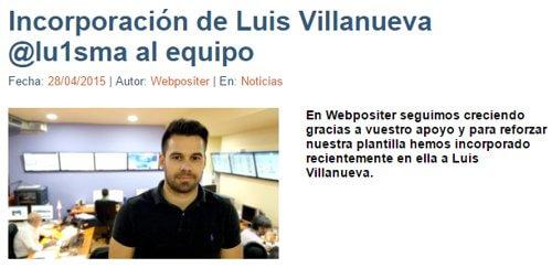 Luis M Villanueva en Webpositer