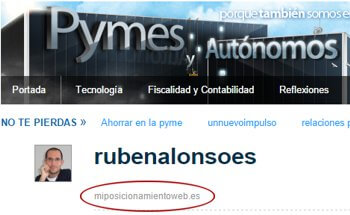 Perfil de usuario en PymesYAutonomos.com
