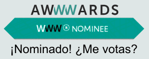 Nominado en los AWWWARDS