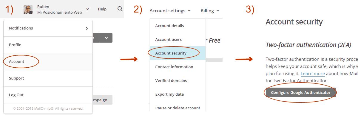 Doble verificación en MailChimp