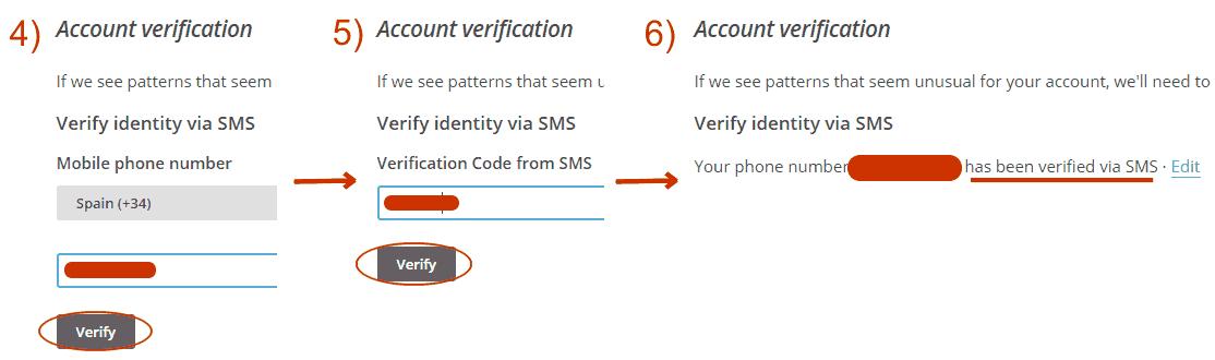 Verificación del móvil vía SMS en MailChimp