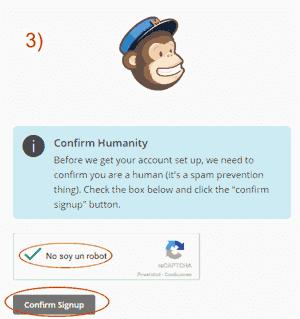 Verificar que eres humano - Paso 3