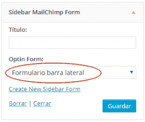 Widget en MailChimp Forms