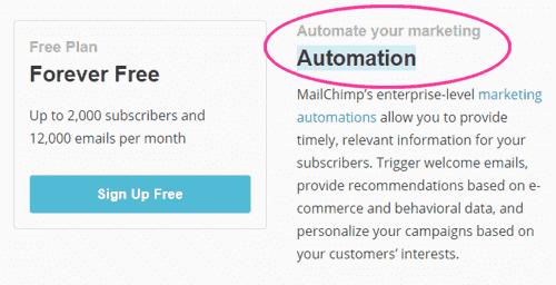 Automation ahora gratis en MailChimp