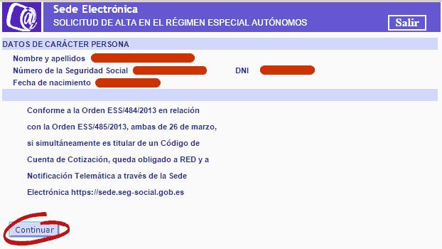 RETA - Seguridad Social autónomos