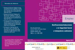 Bonificaciones y reducciones a la Seguridad Social de los autónomos (Portada)