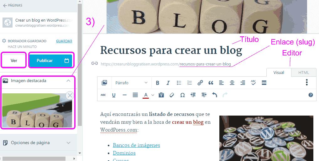 Editor de página de WordPress.com