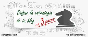 Cómo definir la estrategia de tu blog en 3 pasos