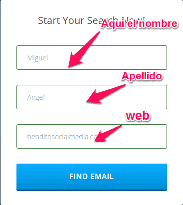 Comprobar si existe un email con FindAnyEmail