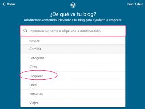 Crear un sitio web en WordPress gratis - Paso 3