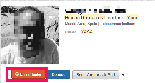 Email Hunter en LinkedIn