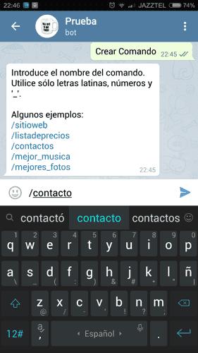 Cómo crear un comando personalizado en Telegram
