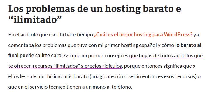 """Mi opinión sobre los """"hosting ilimitados"""""""