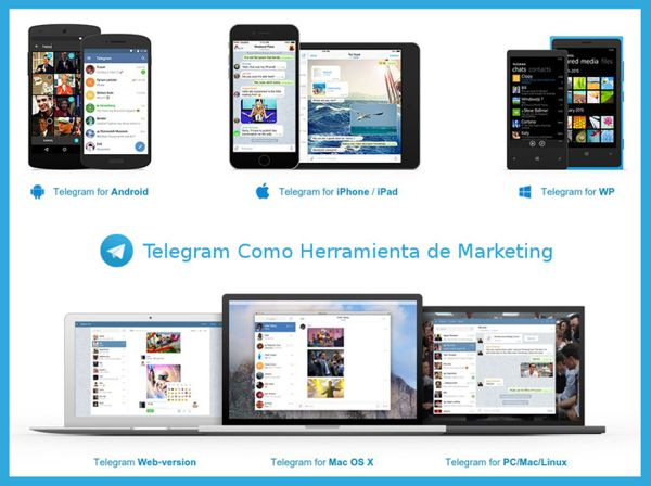 Telegram como herramienta de marketing digital multiplataforma