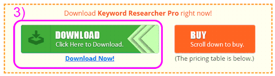 Descarga gratis la versión de prueba de Keyword Researcher Pro