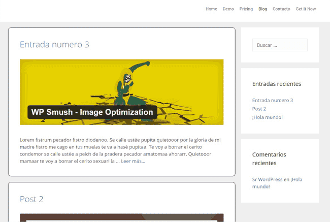 Cambio de estilo CSS en WordPress