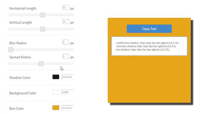 CSSmatic para generar sombras con box shadow en CSS