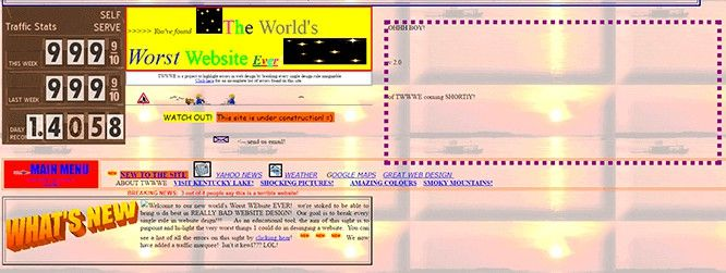 Ejemplo de un mal diseño de página web