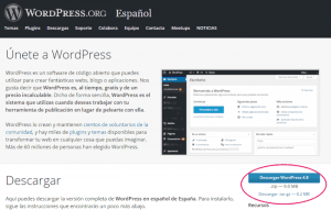 Descargar WordPress.org