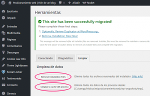 Migración de WordPress a local completada con éxito