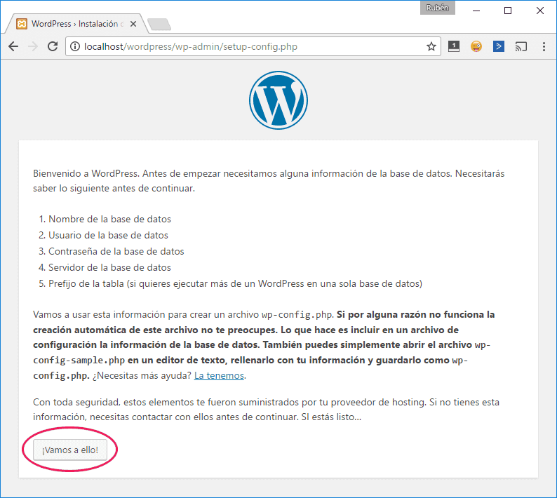 Instalación de WordPress en localhost