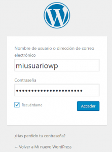 Login de WordPress