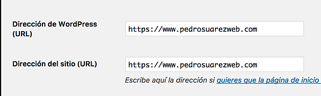Ajustes en WordPress de HTTP a HTTPS