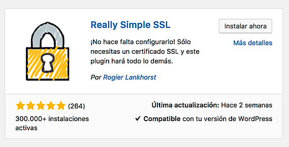 Redirección a HTTPS mediante Really Simple SSL