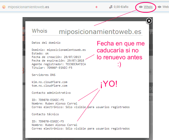 Of miposicionamientoweb.es in dondominio