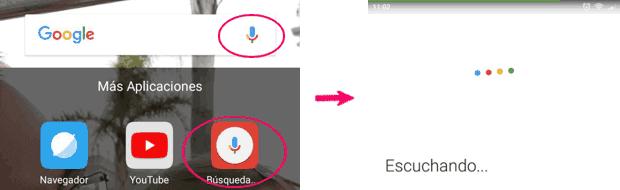 Búsqueda por voz en Android
