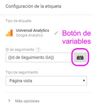 Configurar la etiqueta de Google Analytics para AMP en Google Tag Manager