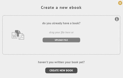 Crear nuevo ebook en StreetLib