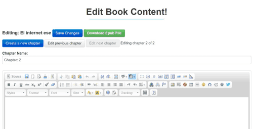 Editor de My eBook Maker