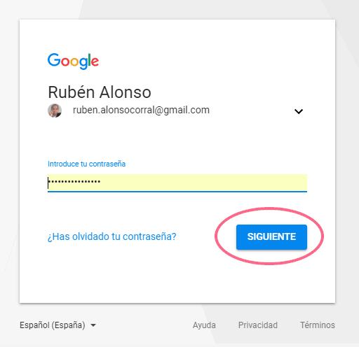 Inicio de sesión en Google Tag Manager